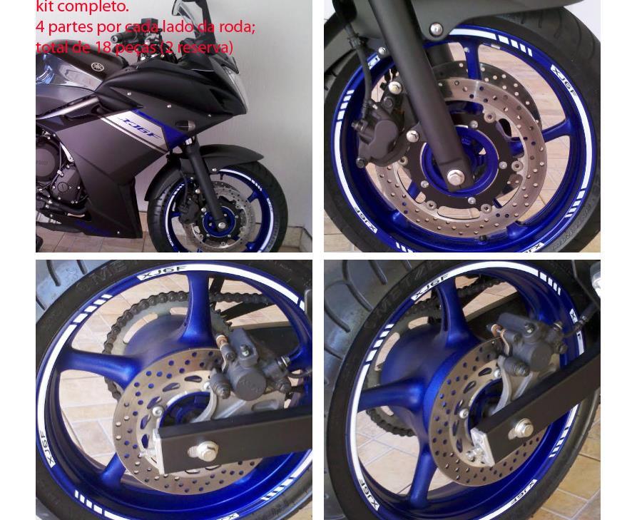 Aparador Y Vitrina Clasico ~ Friso Tuning Adesivo Refletivo Roda Moto Yamaha Xj6 F 600 M7 R$ 64,90 em Mercado Livre