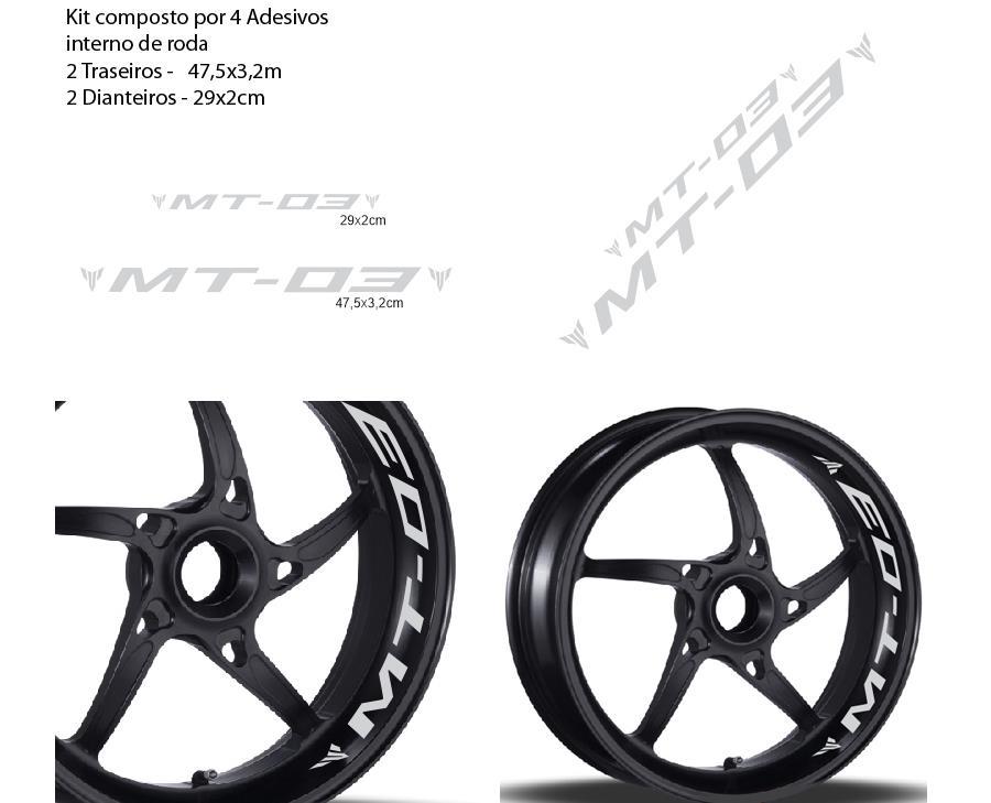 Aparador Y Vitrina Clasico ~ Adesivo Interno Refletivo Roda Moto Yamaha Mt03 Mt 03 Mt 03 R$ 49,90 em Mercado Livre