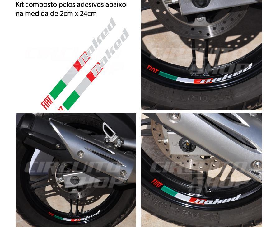 Aparador Y Vitrina Clasico ~ Adesivo Roda Refletivo Moto Yamaha Fazer 250 Fiat Fretgrátis R$ 45,90 em Mercado Livre